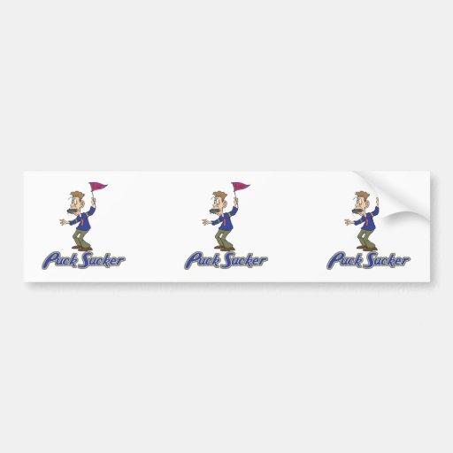 humor raro del hockey del lechón del duende malici etiqueta de parachoque