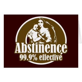 Humor religioso eficaz de la abstinencia el 99% tarjeta de felicitación