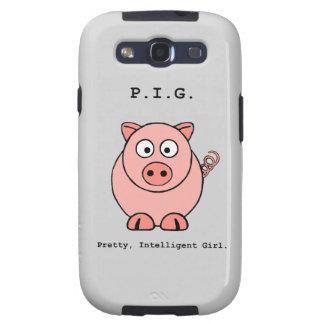Humor rosado del cerdo samsung galaxy s3 carcasas