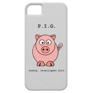 Humor rosado del cerdo funda para iPhone 5 barely there