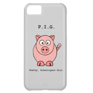 Humor rosado del cerdo funda para iPhone 5C