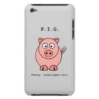 Humor rosado del cerdo iPod Case-Mate carcasas