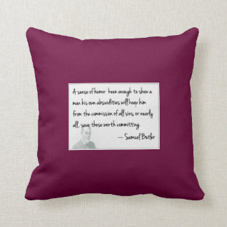 Humor rules.... throw pillow
