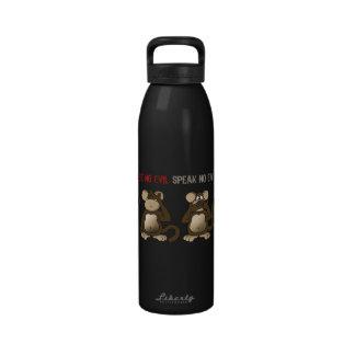 Humor sabio de los monos botella de beber
