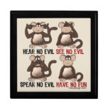 Humor sabio de los monos cajas de recuerdo