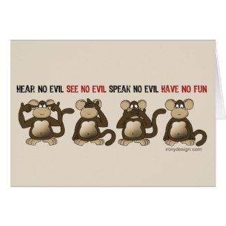Humor sabio de los monos felicitacion