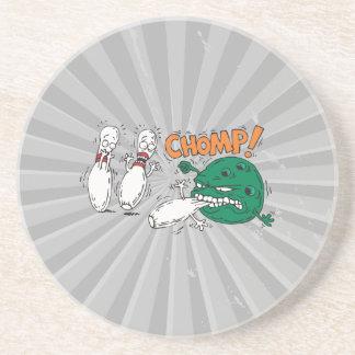 humor salvaje divertido de los bolos de la bola de posavasos manualidades
