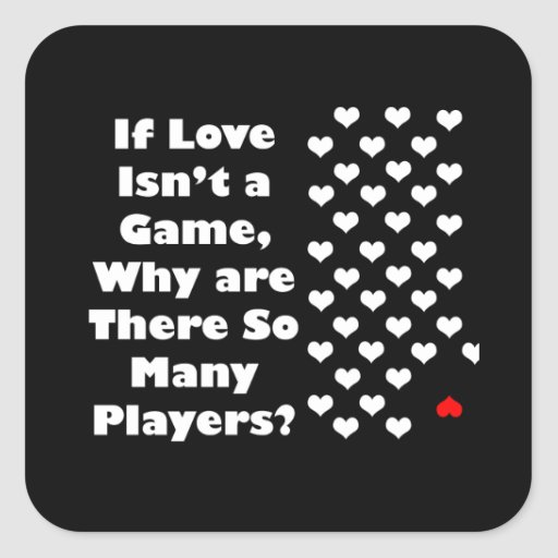 Humor sobre The Game del amor Pegatina Cuadrada