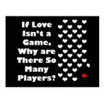 Humor sobre The Game del amor Postales