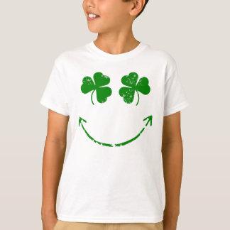 Humor sonriente de la cara del día de St Patrick Playera