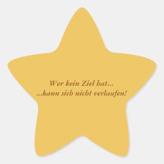 Humor - texto alemán pegatina en forma de estrella
