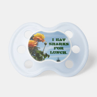 Humor Toddler Pacifiers Eat Sharks for Lunch Funny