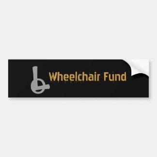 Humor Wheelchair Fund Bumper Sticker