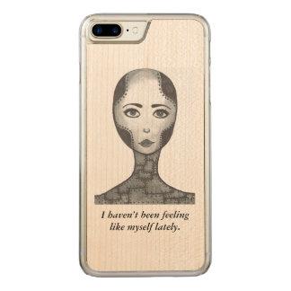 Humor, wooden phone case, iPhone, Samsung, iPad Carved iPhone 8 Plus/7 Plus Case