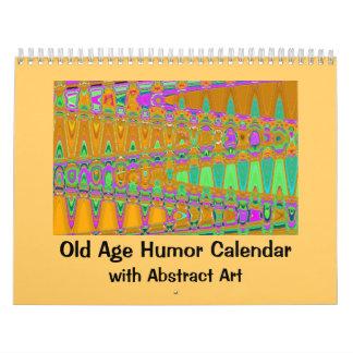 Humor y arte de la edad avanzada calendario