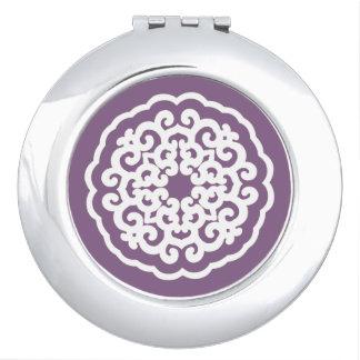 Humores asiáticos violetas Mandalla Espejos Compactos