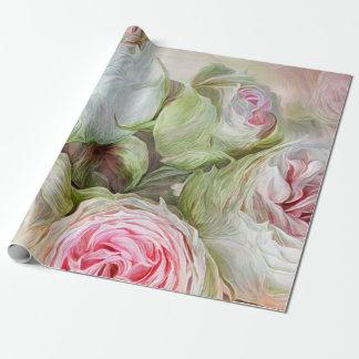 Humores color de rosa - papel de regalo del arte