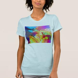 Humores del extracto colorido del movimiento camiseta