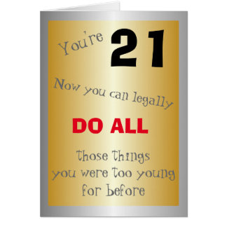 Humorous 21st Birthday Card