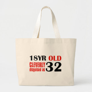 Humorous 32 year old birthday gifts canvas bags