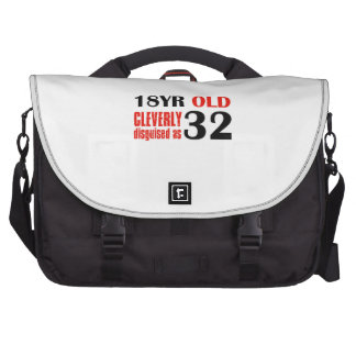 Humorous 32 year old birthday gifts laptop computer bag