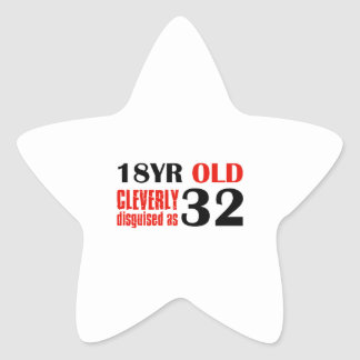 Humorous 32 year old birthday gifts star sticker