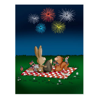 Humorous 4th of July Card with Fireworks - Friend