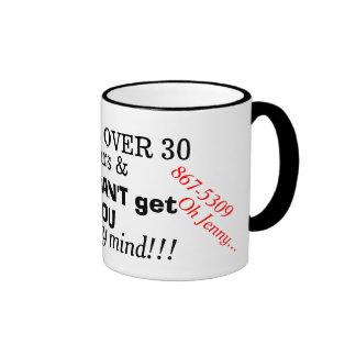 Humorous 867-5309 Jenny 1980s Phone Number Mug