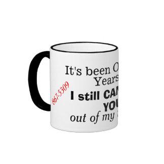 Humorous 867-5309 Retro 1980s Phone Mug