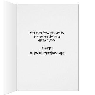Humorous Administrative Professionals Day /Secreta Greeting Card