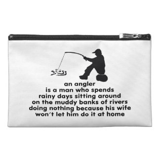 Humorous Angler's Travel Accessories Bags