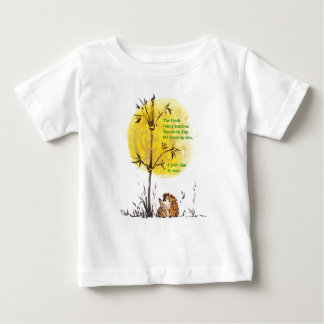 Humorous Asian-Inspired Hedgehog Haiku Design Baby T-Shirt