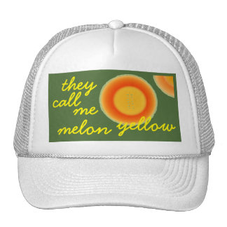 Humorous Baby Boomer Hat they call me melon yellow