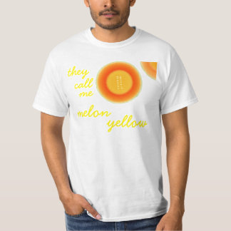 Humorous Baby Boomer they call me melon yellow Tee