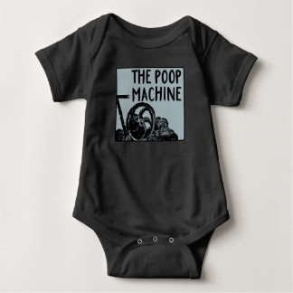 Humorous Baby Poop Machine with Vintage Style Baby Bodysuit