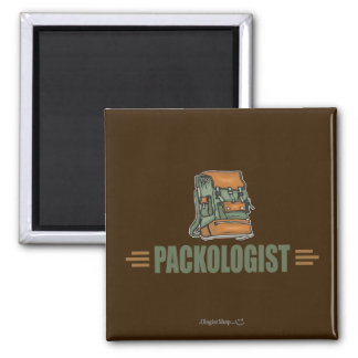 Humorous Backpacking 2 Inch Square Magnet