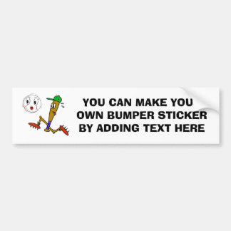 Humorous Baseball T-shirts and Gifts Car Bumper Sticker