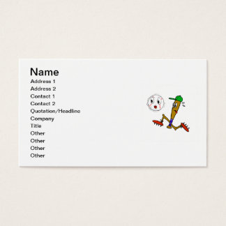 Humorous Baseball T-shirts and Gifts Business Card