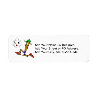 Humorous Baseball T-shirts and Gifts Return Address Label