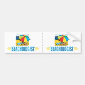 Humorous Beach Lover Car Bumper Sticker