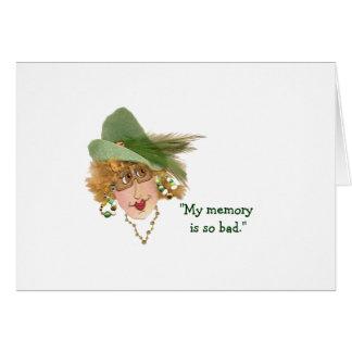 Humorous Belated Birthday Memory Card