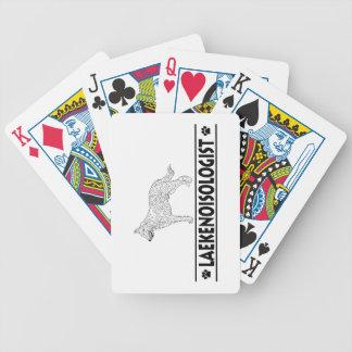 Humorous Belgian Laekinois Bicycle Playing Cards