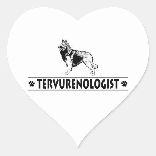 Humorous Belgian Tervuren Heart Sticker