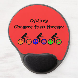 humorous biking message gel mouse pad