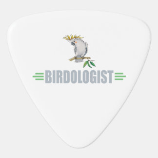 Humorous Bird Lover's Guitar Pick