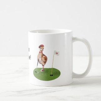 Humorous Bird Playing Golf Coffee Mug