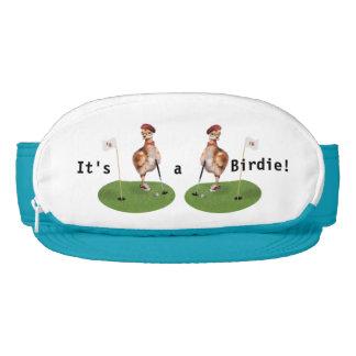Humorous Bird Playing Golf Visors
