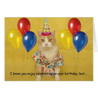 Humorous Birthday Greeting Card