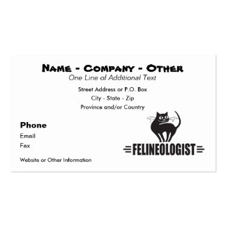 Humorous Black Cat Double-Sided Standard Business Cards (Pack Of 100)