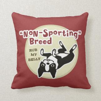 Humorous Boston Terrier - Nonsporting Breed Throw Pillow